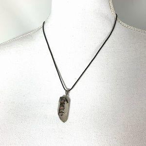 VTG Quartz Tourmaline Crystal Pendant necklace